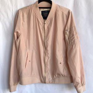 Cavalini pretty blush / peach bomber-style jacket